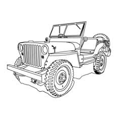 10 free printable jeep coloring pages