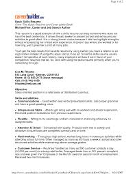 Interest Activities Resume Examples by Examples Of Resumes Resume Example Basic For Objective In 93