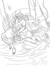 jonah coloring page jonah bible story colouring page jonah and the whale pinterest