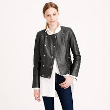 female motorcycle jackets j crew collection quilted leather motorcycle jacket in green lyst
