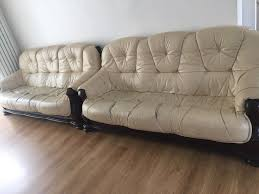 Pre Owned Chesterfield Sofa by Dfs 2 Large Leather Sofa U0027s In Coventry West Midlands