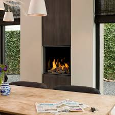 gas fireplace contemporary closed hearth built in original