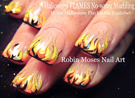 cute halloween nails nail art halloween no water marble flames nail design