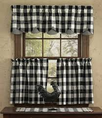 black and white checkered kitchen curtains buffalo check curtains