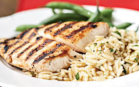 cooking light diet recipes pan grilled snapper with orzo pasta salad from the cooking light