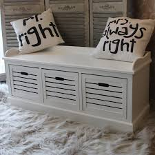 Bedrooms And Hallways Storage Bench Three Drawers White Bedroom Hallway Shoes Bathroom