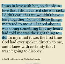 a walk to remember quote this book powerful quote