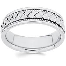 most comfortable wedding band 14k white gold men s braided comfort fit wedding band free