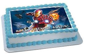 iron man edible birthday cake or cupcake topper u2013 edible prints on