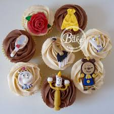 disney beauty and the beast themed cupcakes by bubakes co uk