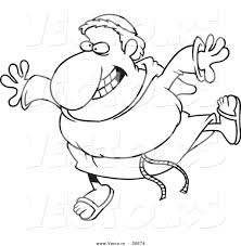 vector of a cartoon happy friar coloring page outline by