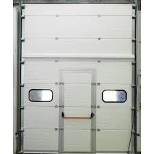 porta sezionale sezionali industriali con porta emergenza omg chiusure industriali