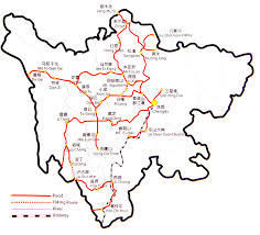 Great Wall Of China On Map by Cheng Maps City Map Attractions Map