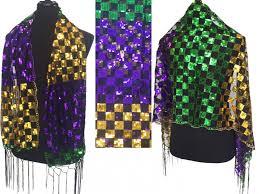 dog collar mardi gras chevron mardi gras sequin checker fringe oblong scarf az29235mdg