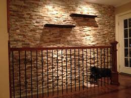 rock home decor decor realistic faux stone wall with table for home decoration ideas