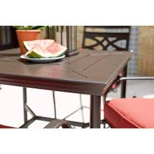 Patio Dining Set by Middletown 3 Piece Motion High Patio Dining Set With Chili
