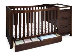 4 In 1 Baby Crib With Changing Table Nursery Decors Furnitures Baby Cribs Changing Table Attached