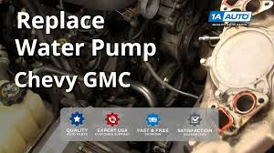 how to install replace water pump chevy gmc silverado sierra tahoe