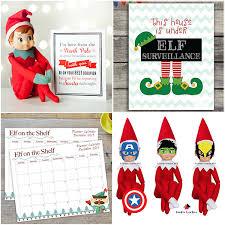 40 fun u0026 creative christmas elf on the shelf printables glitter