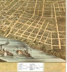 Memphis Map Memphis Tennessee In 1870 Bird U0027s Eye View Map Aerial