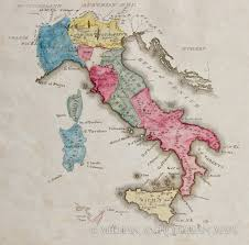 World Map Of Italy by Map Of Italy 1822