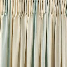 Drapery Pleat Hooks Awning Stripe Duck Egg Cotton Pencil Pleat Ready Made Curtains