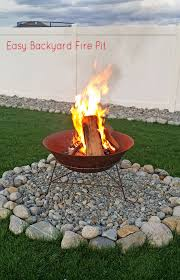 Build Backyard Fire Pit - easy backyard fire pit in less than 30 minutes kleinworth u0026 co