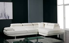 T Ultra Modern White Leather Sectional Sofa - Modern miami furniture