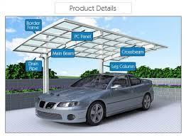 Car Port For Sale Aluminum Shelters Cantilever Car Port For 1 Car Sunshield Car