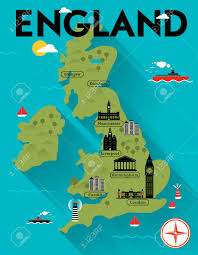 Map Of England by Map Of England Illustration Royalty Free Cliparts Vectors And