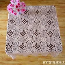 free shipping cotton crochet dimond tablecloth handmade crochet