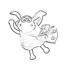 shaun sheep coloring pages printable free zombies kids zombie