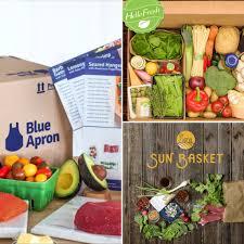 food basket delivery comparison of blue apron vs hello fresh vs sun basket plus get