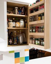 Kitchen Cabinet Door Spice Rack Wooden Spice Cabinet With Doors