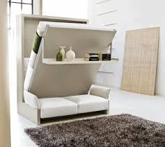 White Sofa Bed Modern Sofa Bed In Beige And White Color Black Fur Rug Frame
