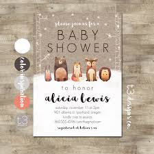 instant winter woodland baby shower invitation diy pdf forest