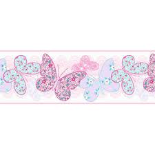bordüre kinderzimmer selbstklebend home kinderzimmer bordüre selbstklebend 100173 butterfly
