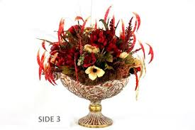 Silk Flower Arrangements For Dining Room Table Hand Crafted Dining Table Centerpiece Silk Flower Arrangement