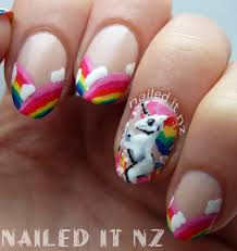 rainbow unicorn nail art inspired by robin moses