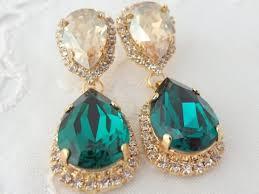 gemstone earrings designs single artificial