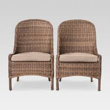 Target Dining Chair Mayhew 2pk All Weather Wicker Dining Chair Threshold Target