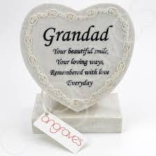 grandad textured graveside memorial ornament plaque with verse