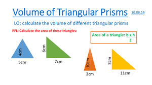 volume of triangular prisms powerpoint and good scaffolded