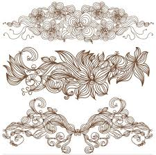 vintage floral ornaments vector ai format free vector