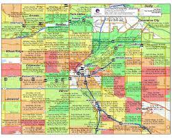 Crime Map Phoenix by Denver Neighborhoods Map Adriftskateshop