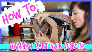how to hannah hart haircut secretz youtube