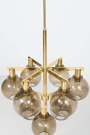 Brass Ceiling Lights Hans Agne Jakobsson Ceiling Lamp In Brass And Smoked Glass For