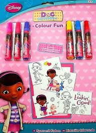 doc mcstuffins colour mess free colouring pad book