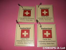 Flag Capital Mini Switzerland Flag Capital Thinking Day Scout Swaps Kids