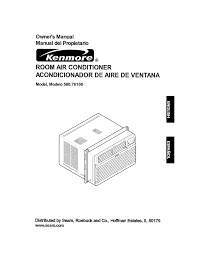 sears air conditioners window kenmore air conditioner 580 76100 user guide manualsonline com